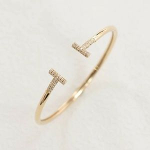 Jewelry - Stainless Steel T Wire Cuff Bangle Love Bracelet